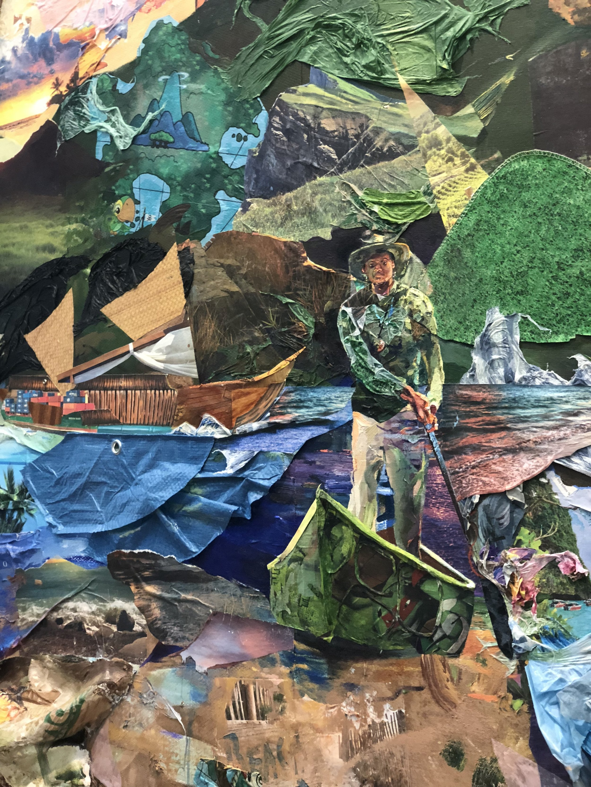 Excelsior: Ever Upward, Ever Afloat , 2018, Queens Museum, (more info  here ). Photo credit: Alexis Convento