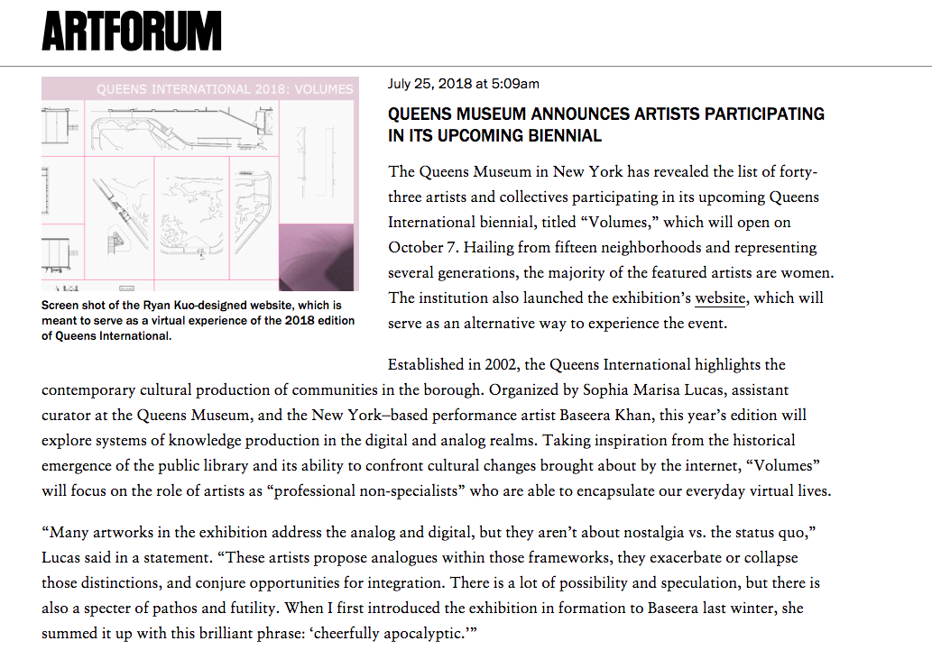 ART FORUM -