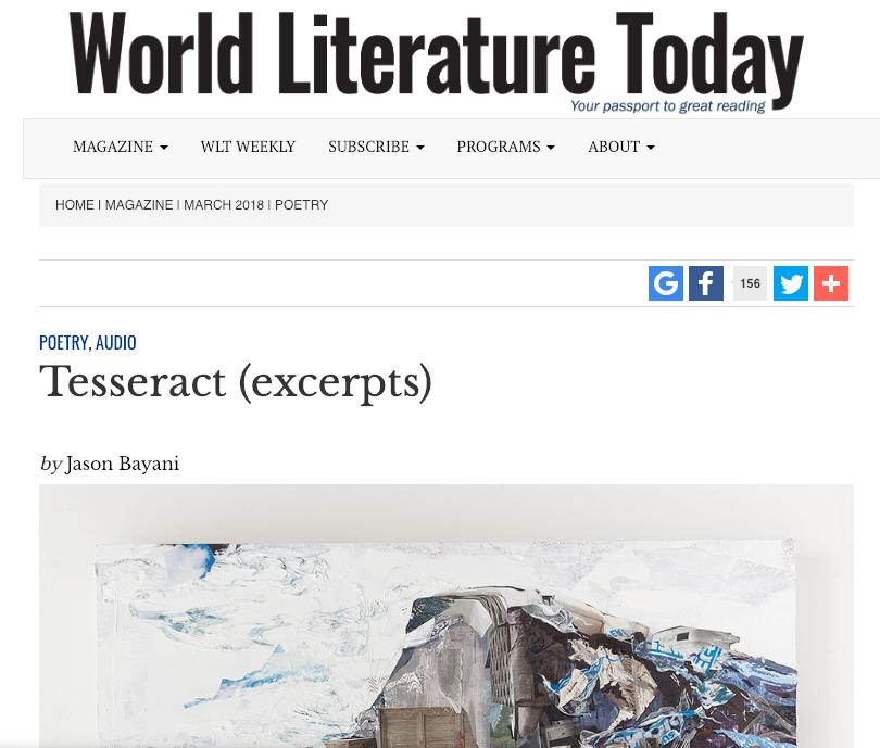 WORLD LITERATURE TODAY -