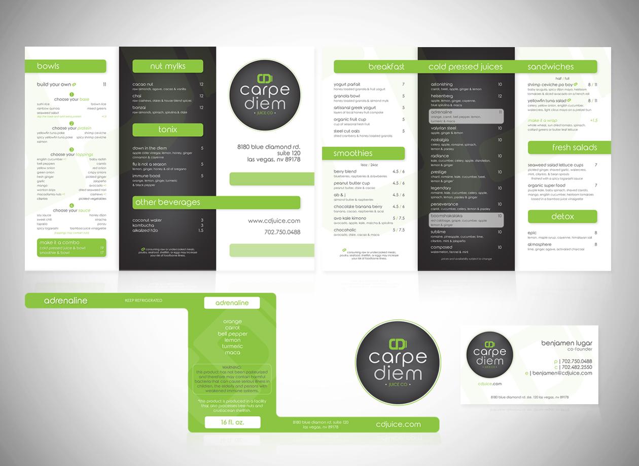 Menu, Packaging, Business Card