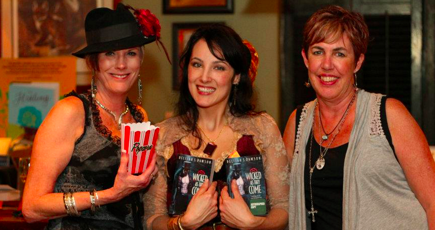 My first book launch party at FoxTale with Karen and Ellen, the Fabulous Foxes.