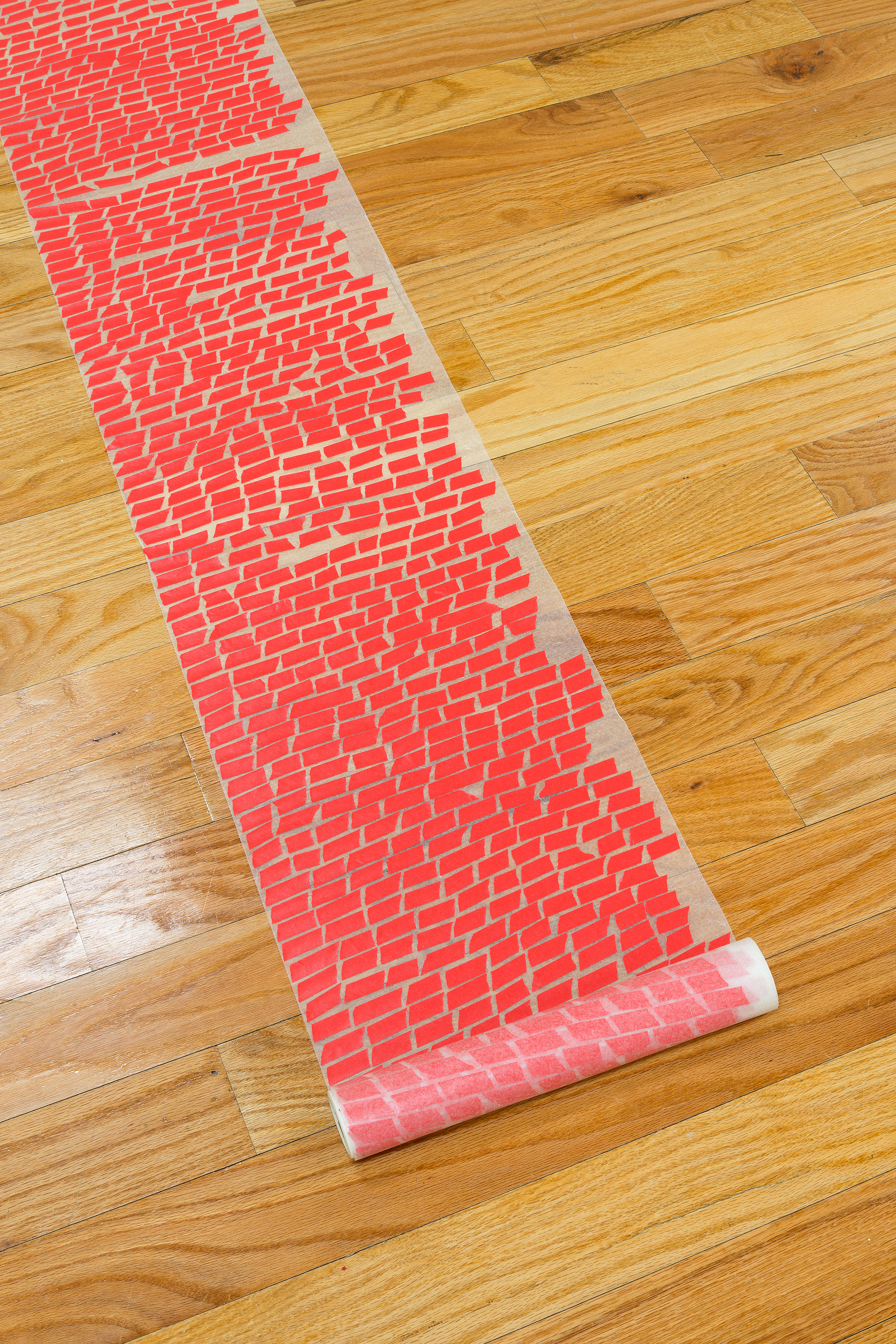 Making and Giving Up (Space)   2015  fabric, tracing paper, paint, wood, masking tape, wax paper  10' x 15' x 10'