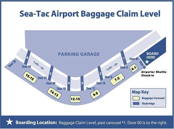 SeaTac Airport Baggage Claim level (3) map