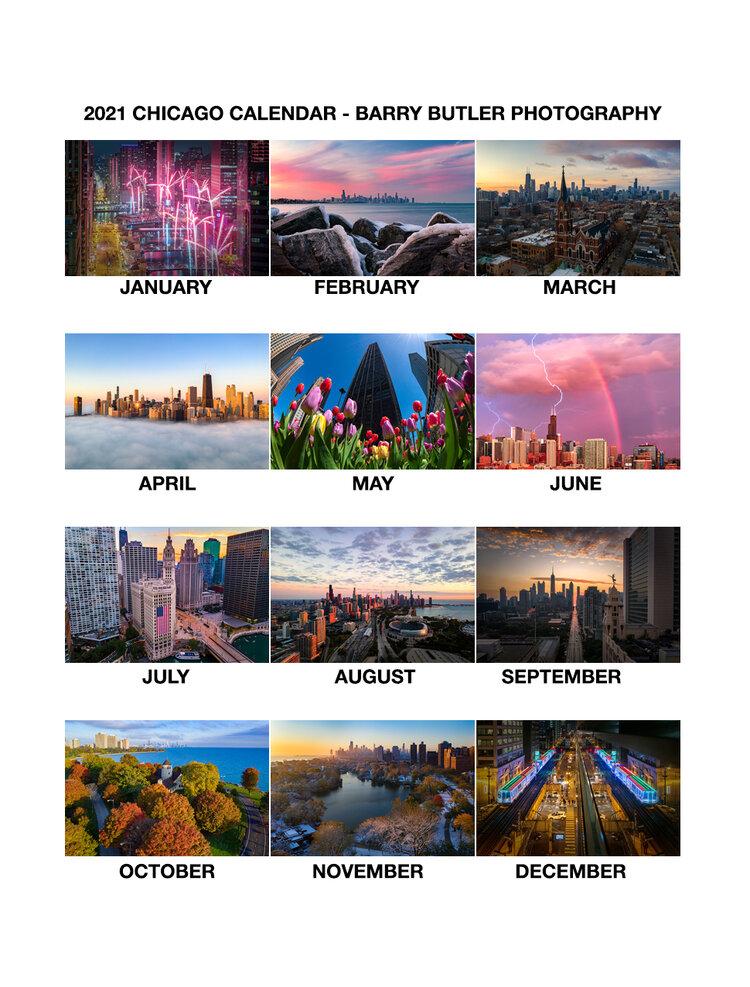 Chicago Calendar 2021 2021 Chicago Calendar — Barry Butler Photography