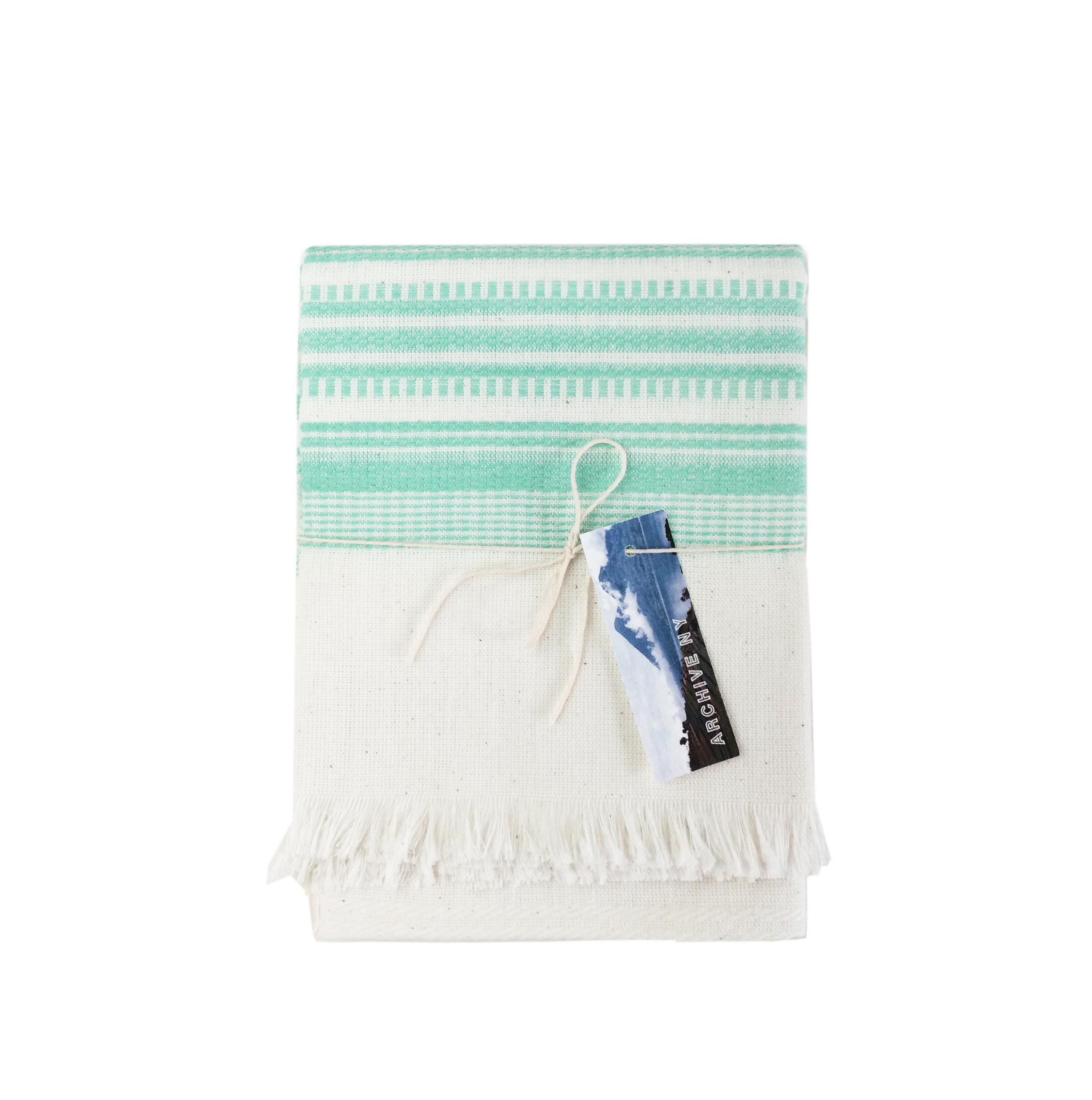 Archive New York White Mint Kitchen Towel