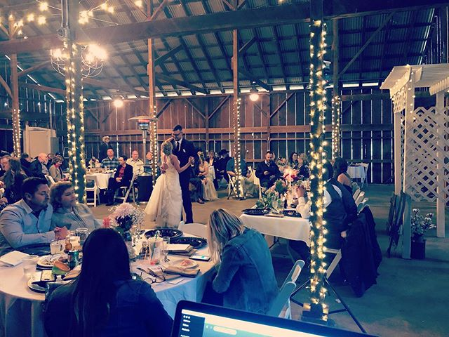 So thankful @goverranch has a beautiful indoor option!!! Amazing wedding on this rainy Saturday!!