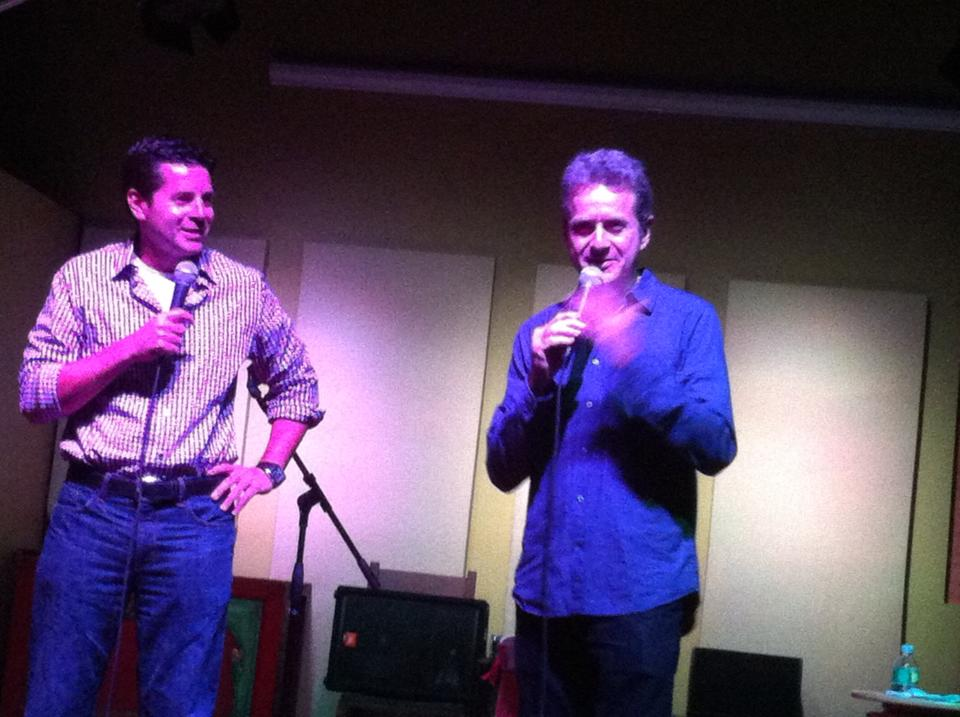 Dean Obeidallah and Scott Blakeman at the Purple Crayon in Hastings-on Hudson, New York.