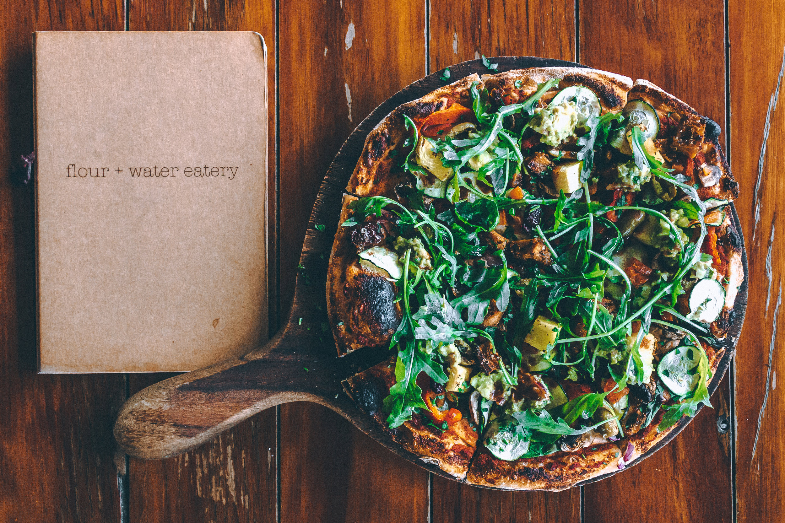 *Our Wood fired Vegan Pizza