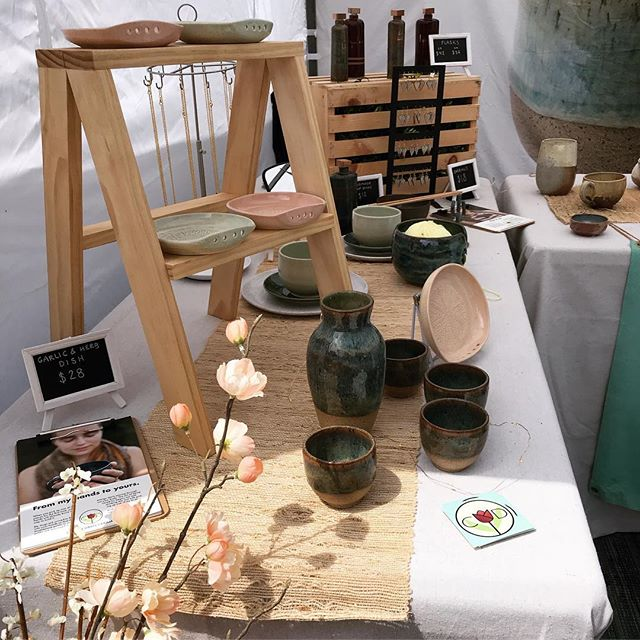 Thank you so much to everyone who came out to #FlavorsontheAvenue this weekend!! And thank you so much to Elissa from @nicethingsphila for putting on such a great show! We had a blast! #ceramics #craftfair #phillymade #makersgonnamake #pottery