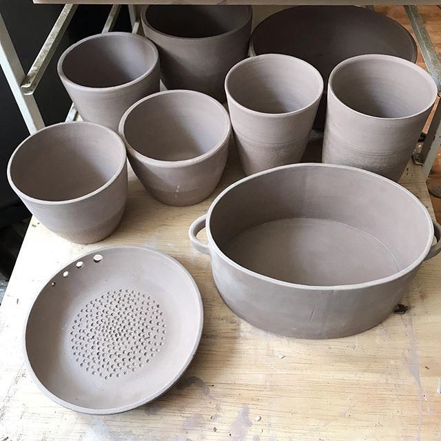 Getting ready for a Mother's Day sale in Massachusetts! I'll have these babes and so much more, so look out Worcester!  #ceramics #pottery #mothersdaygifts #mothersday #maker #phillymade #massachusettsbound #fireworksstudio