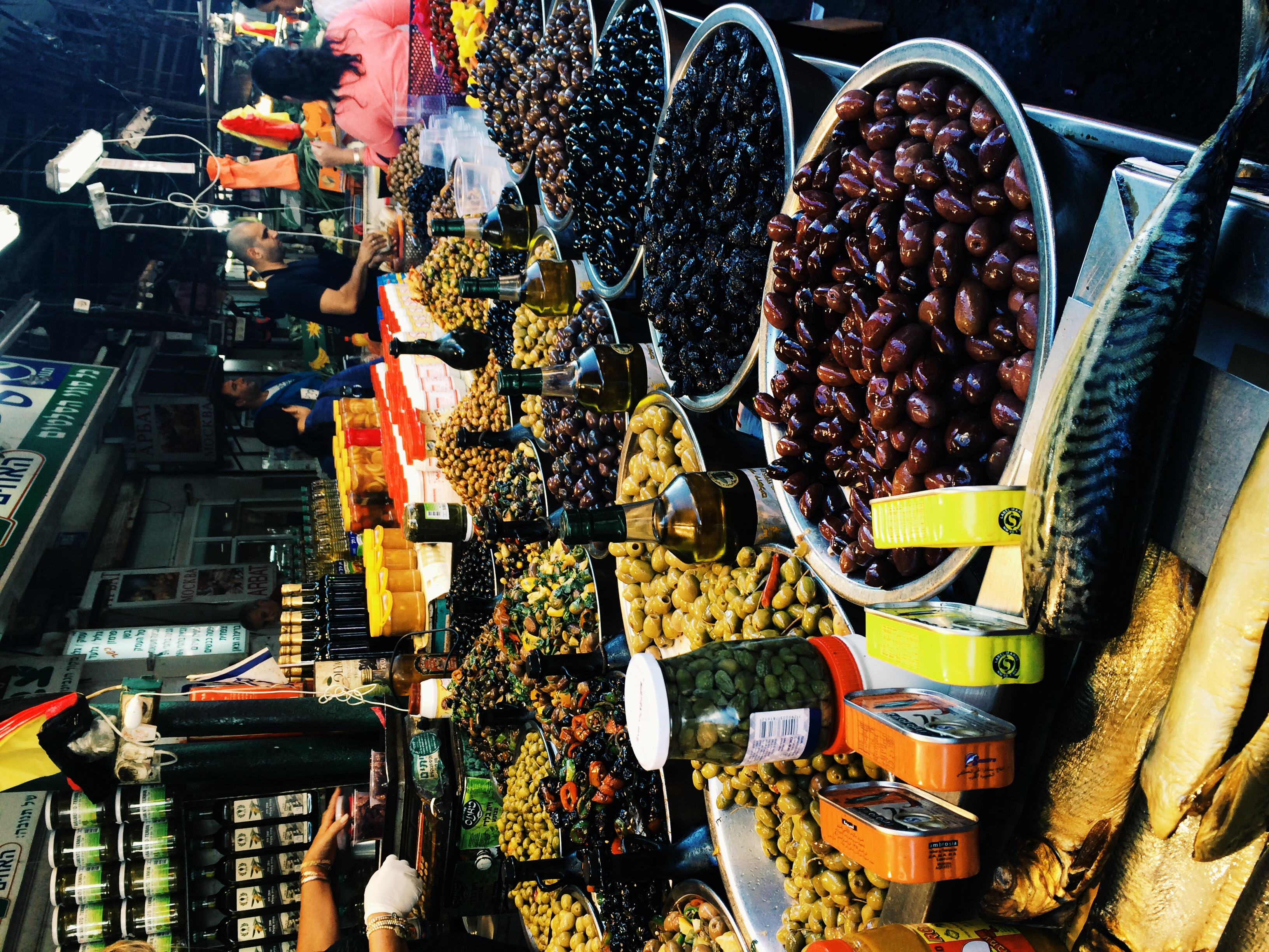 I have never seen so many different types of cured olives! At Carmel Market