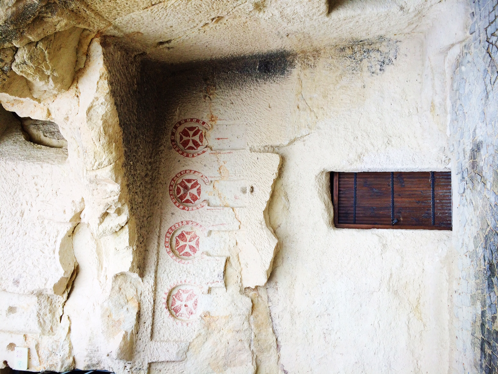 Entrance to one of the seven chapels carved into the rock during the early Cappadocian times. This dates back to as early as 3rd century. Inside Goreme Open Air Museum.