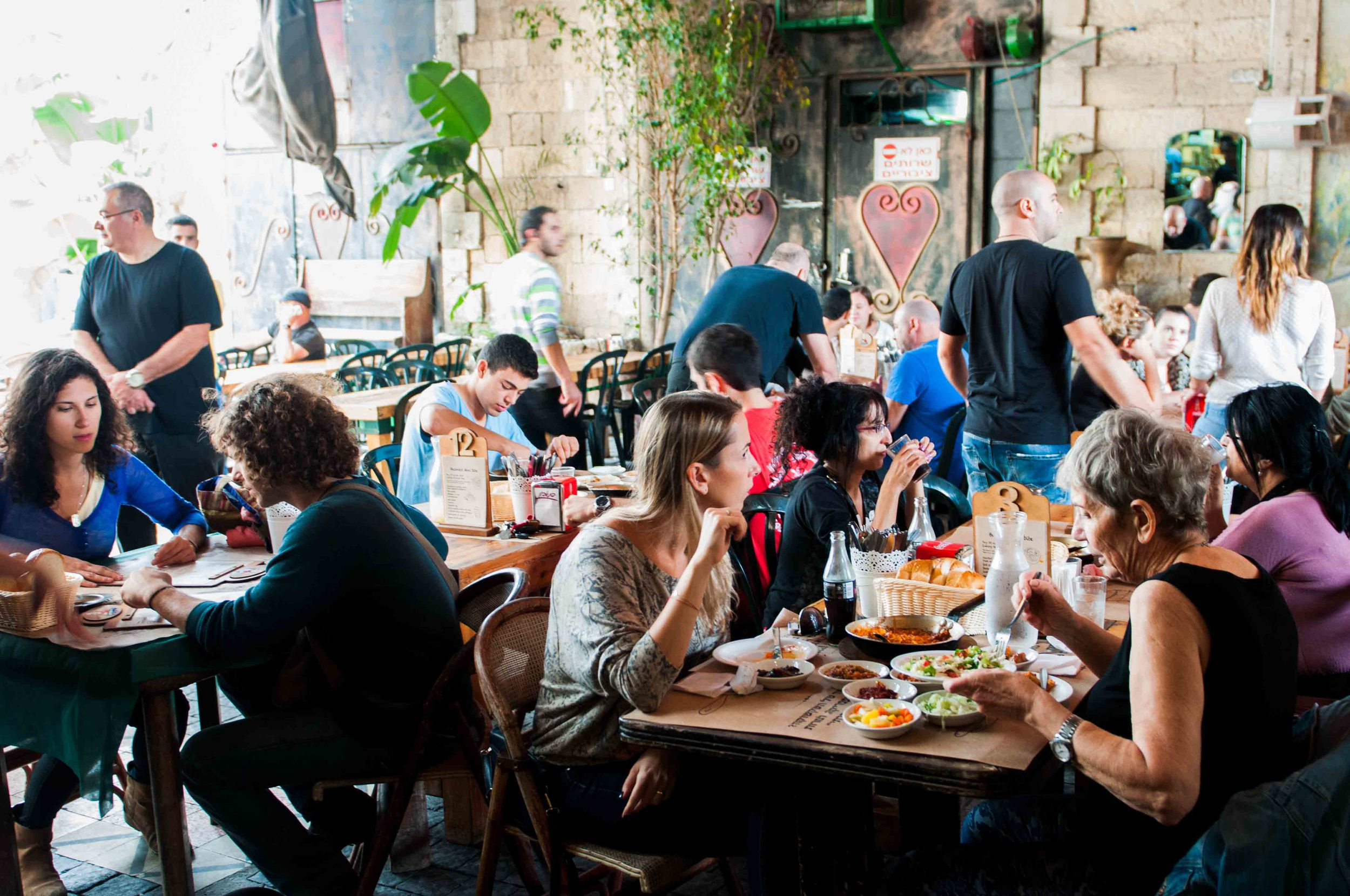 Tel Aviv has a culture of eating out, having fun, socializing and in general, living life to the full. People are out at all times of the day and night.