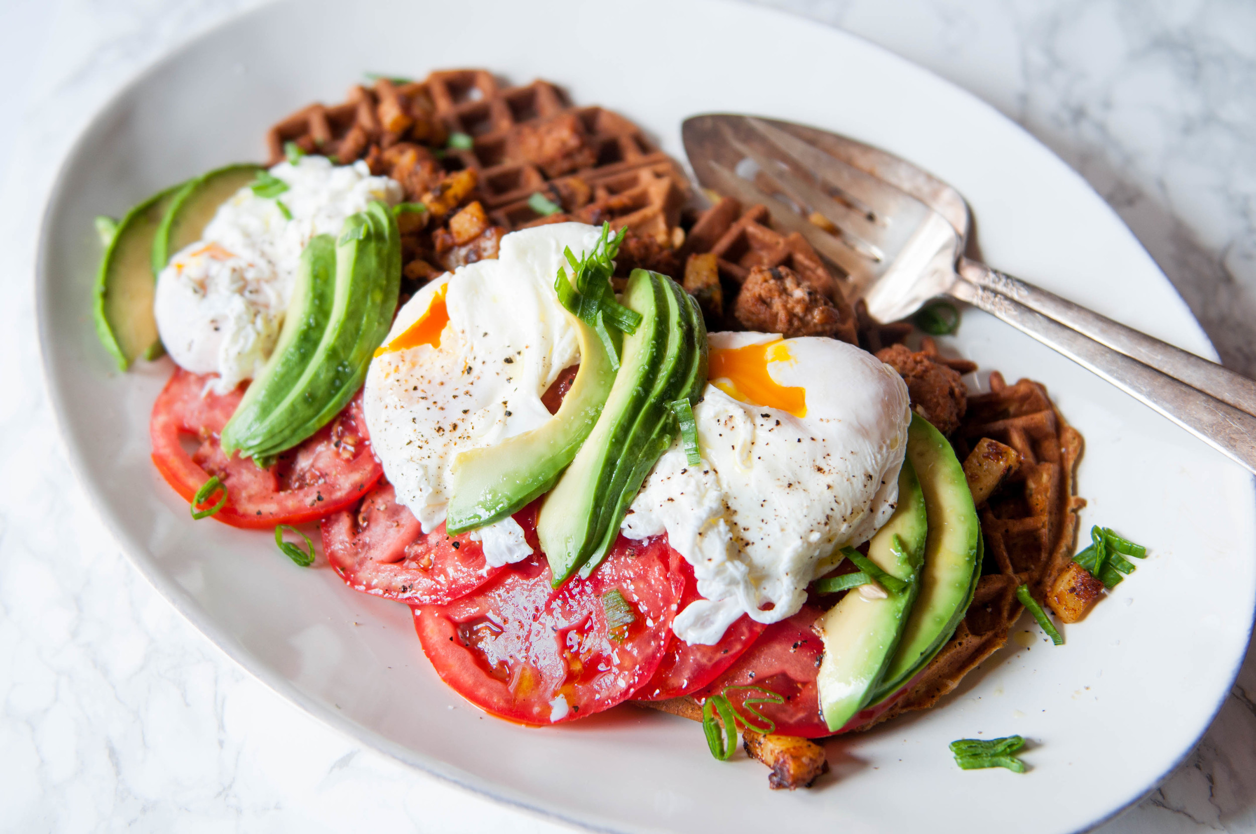 RED MILLET AND EINKORN WAFFLES FOR BRUNCH