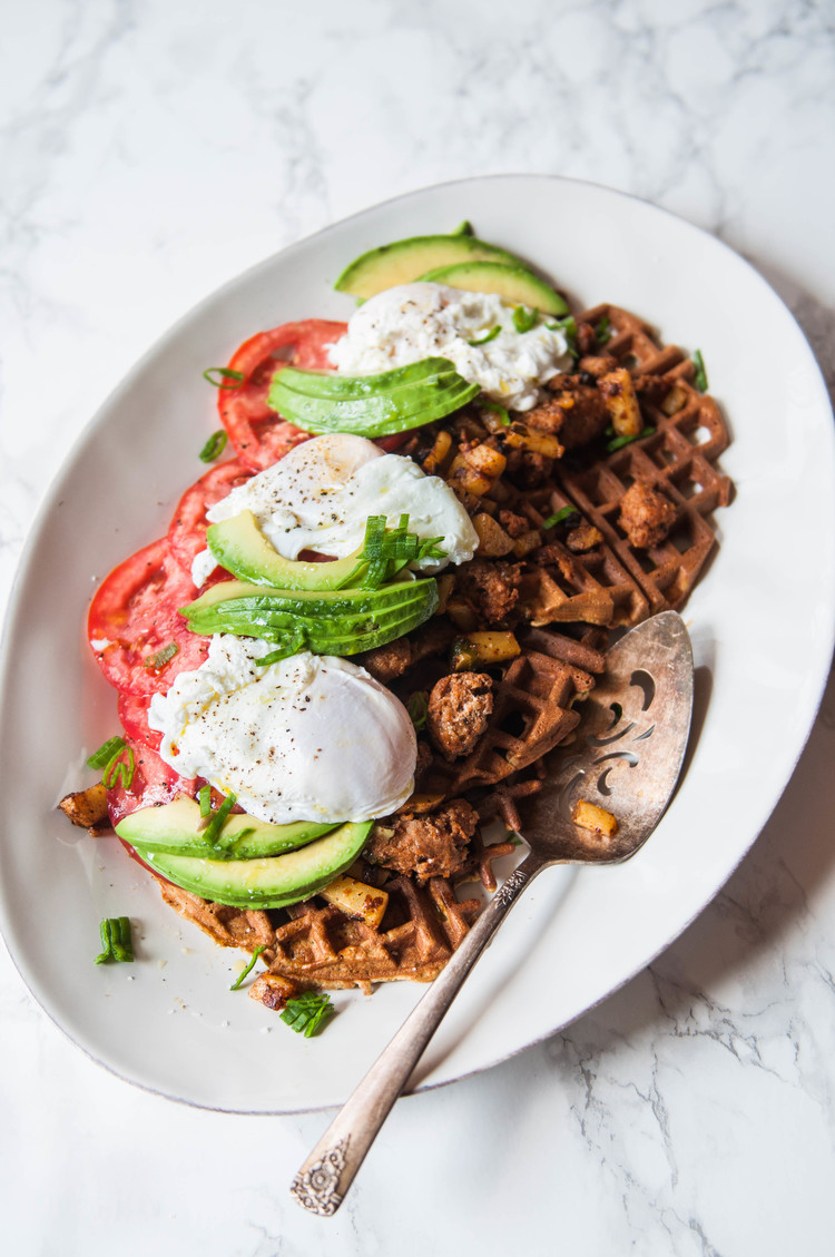 SAVORY WAFFLES & POACHED EGGS