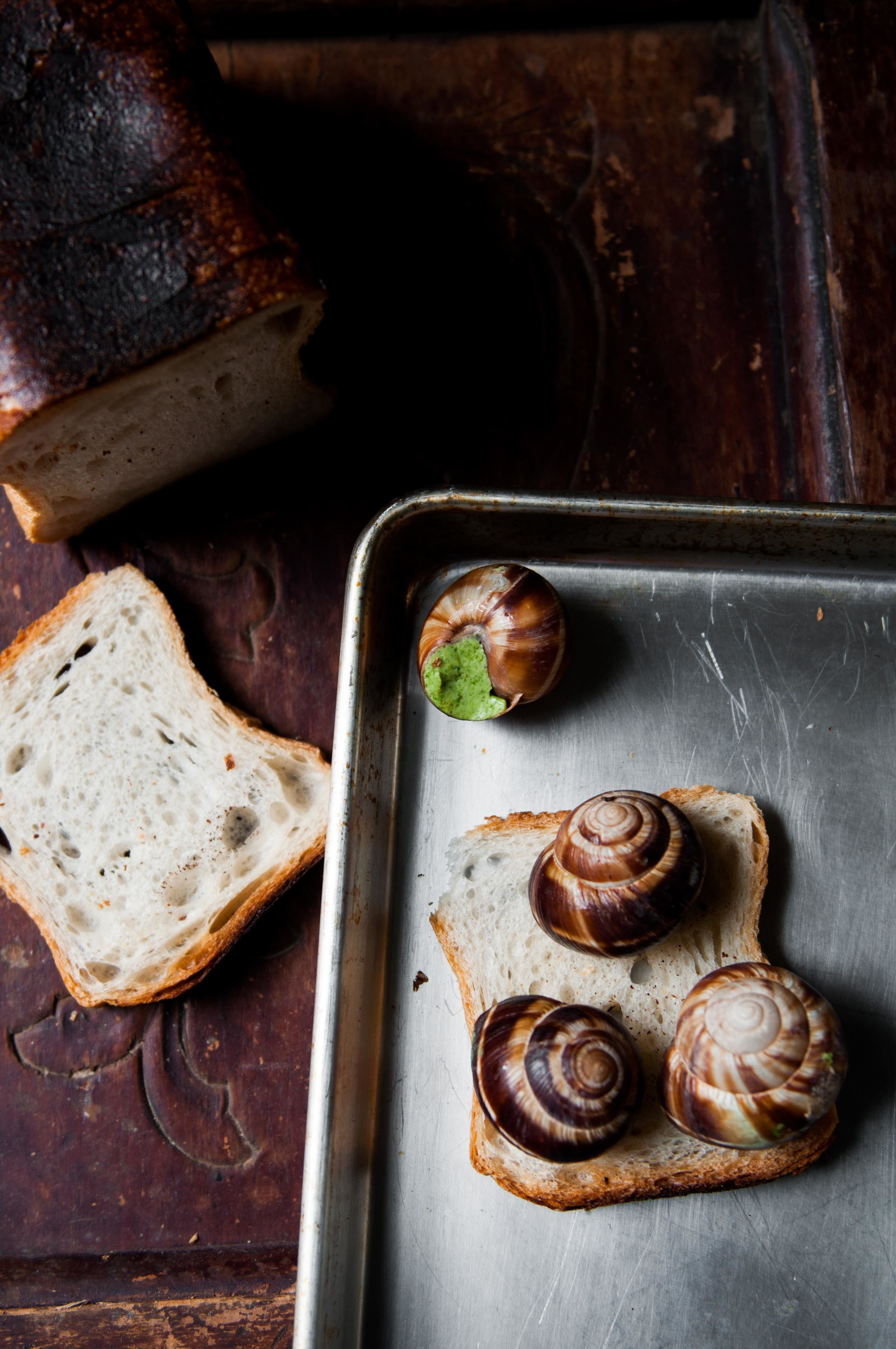 Pesto Roasted Escargots
