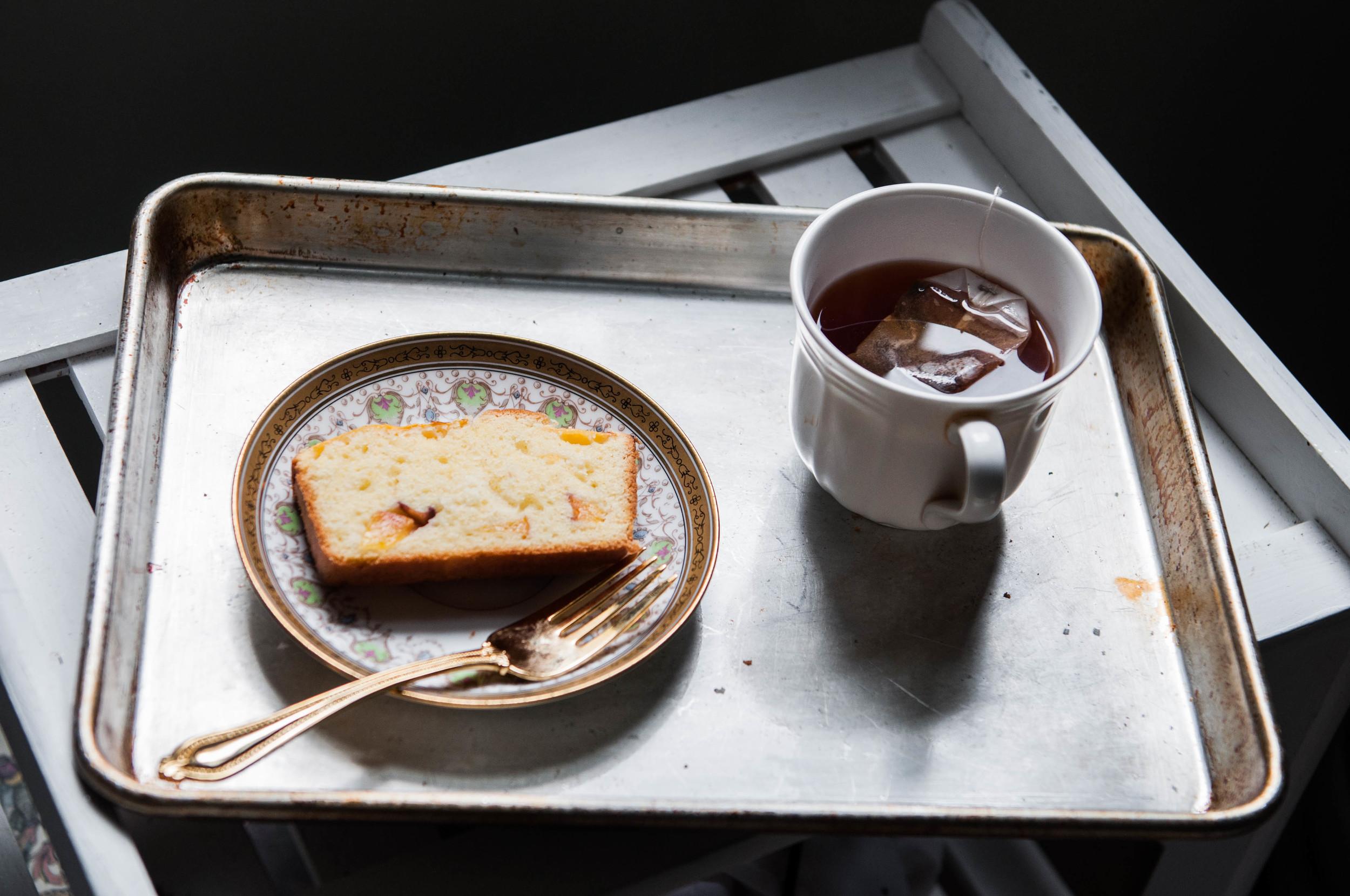 Gluten Free Peach Pound Cake