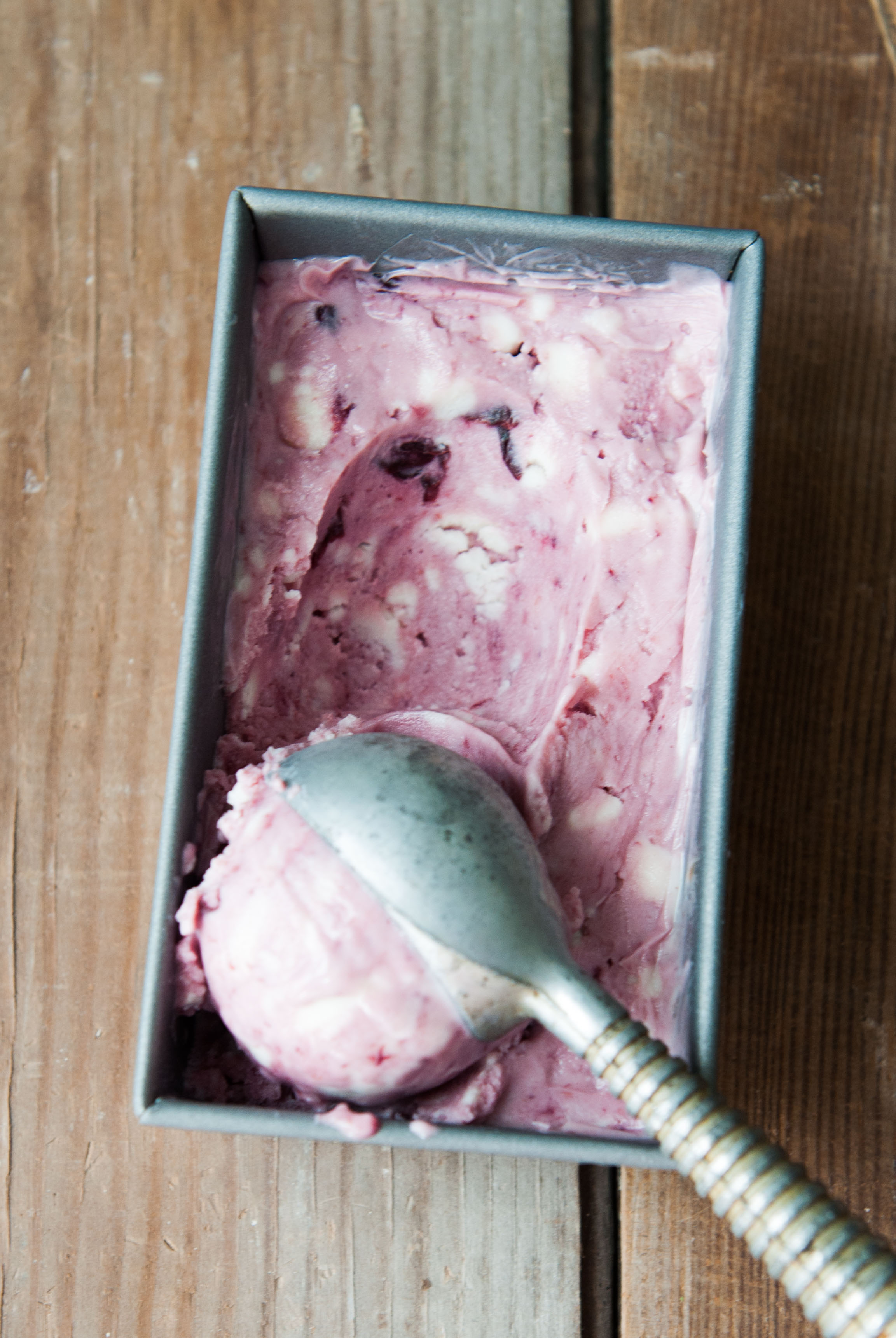 Roast Sugar Plum + Ricotta Ice Yogurt
