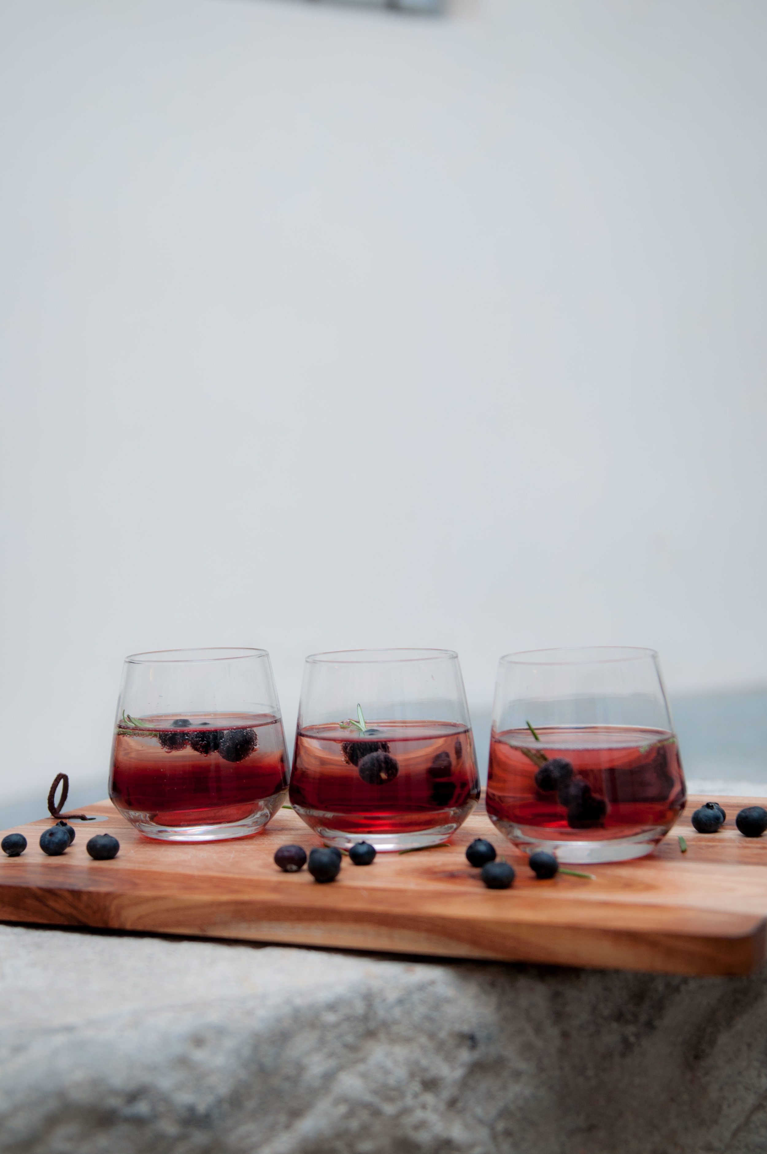 Winter Cocktail with Blueberry, Ginger and Gin!