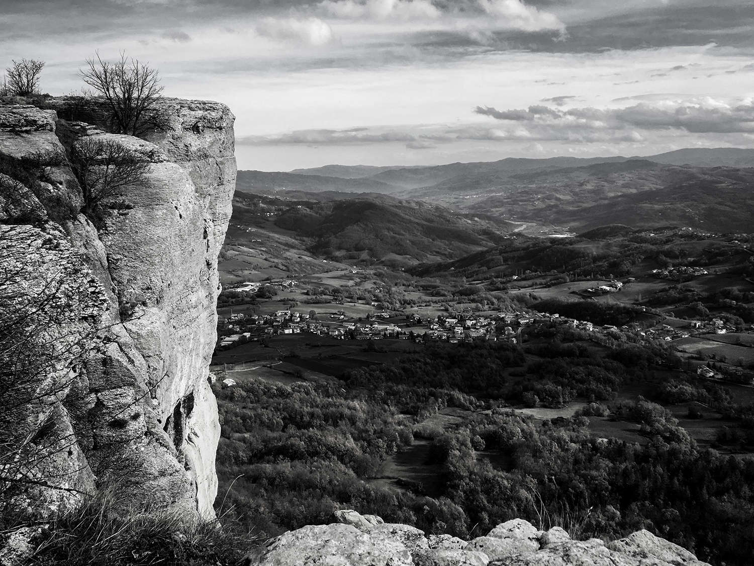 Pietra di Bismantova is a rock formation in the Apennines of Reggio Emilia, popular with technical rock climbers and hikers.
