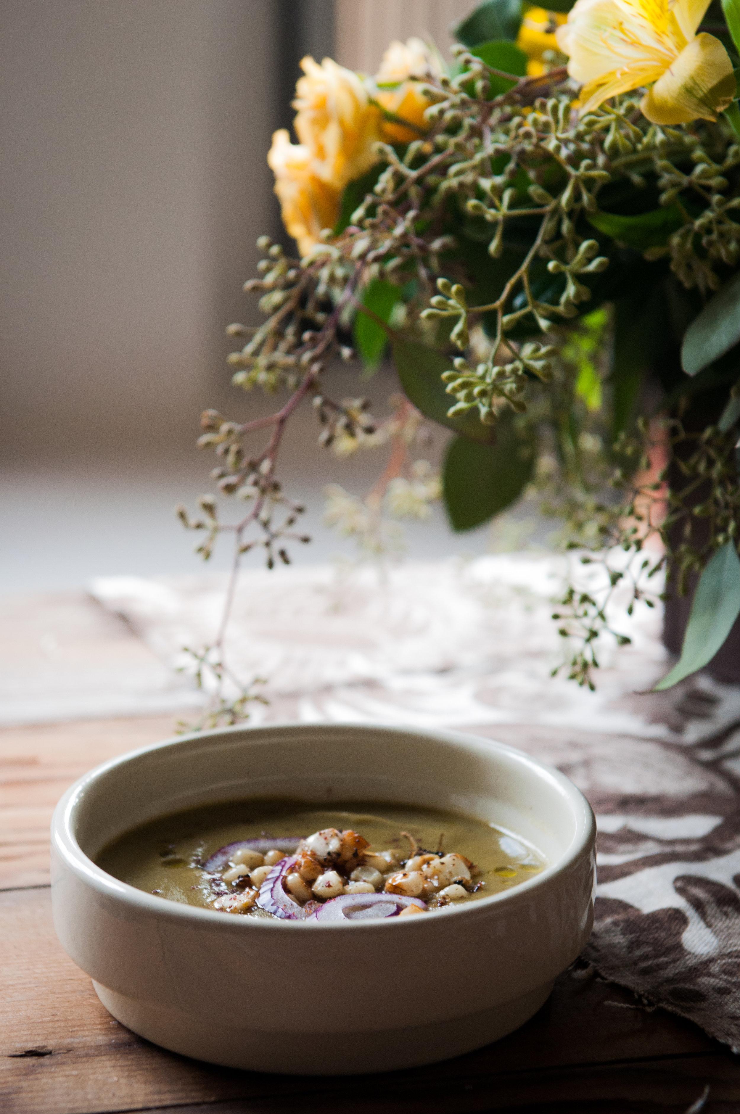 CELERIAC + PARSLEY ROOT SOUP