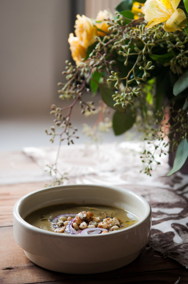 CELERIAC AND PARSLEY ROOT SOUP -