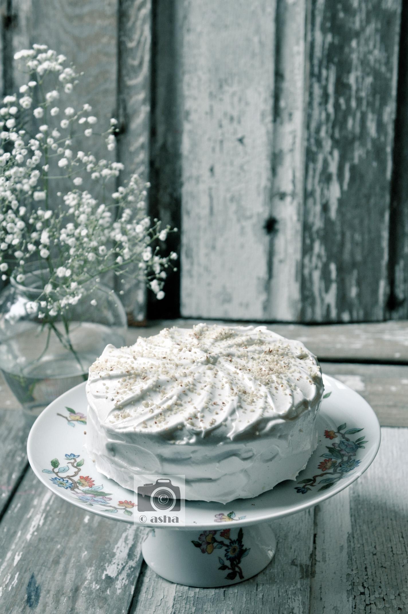 BANANA ALMOND CAKE -