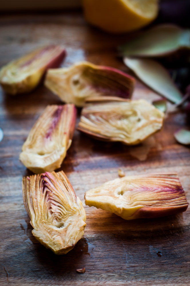 BUTTERED BABY ARTICHOKES -