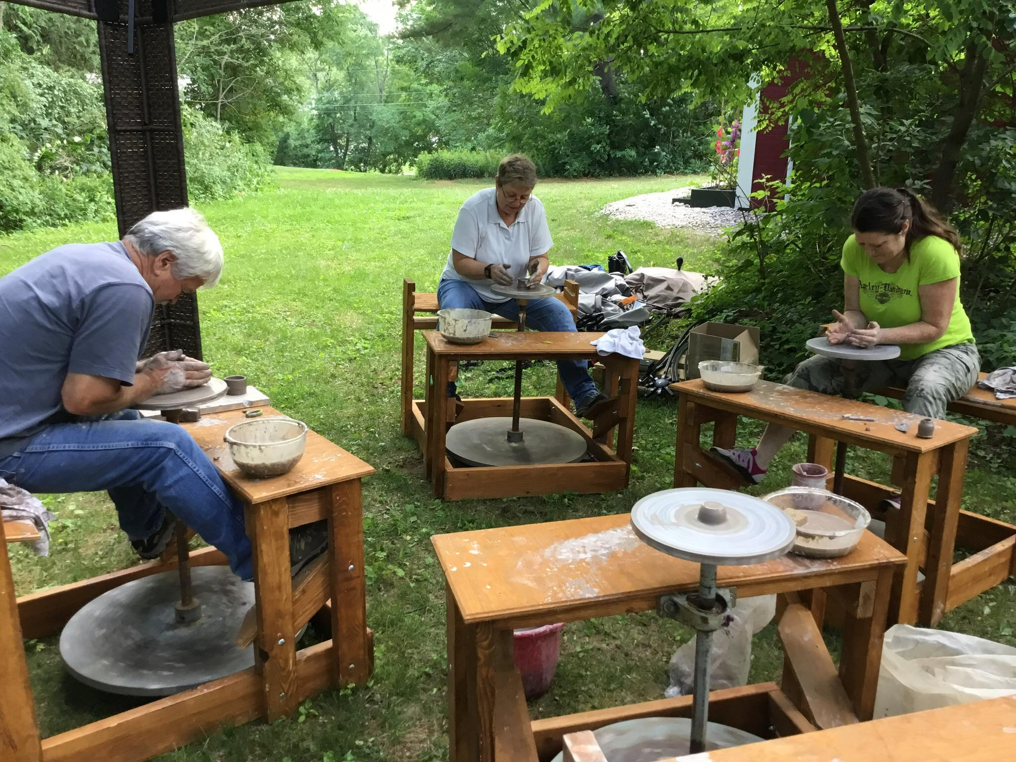 Sign up for an outdoor pottery class, available during the summer.