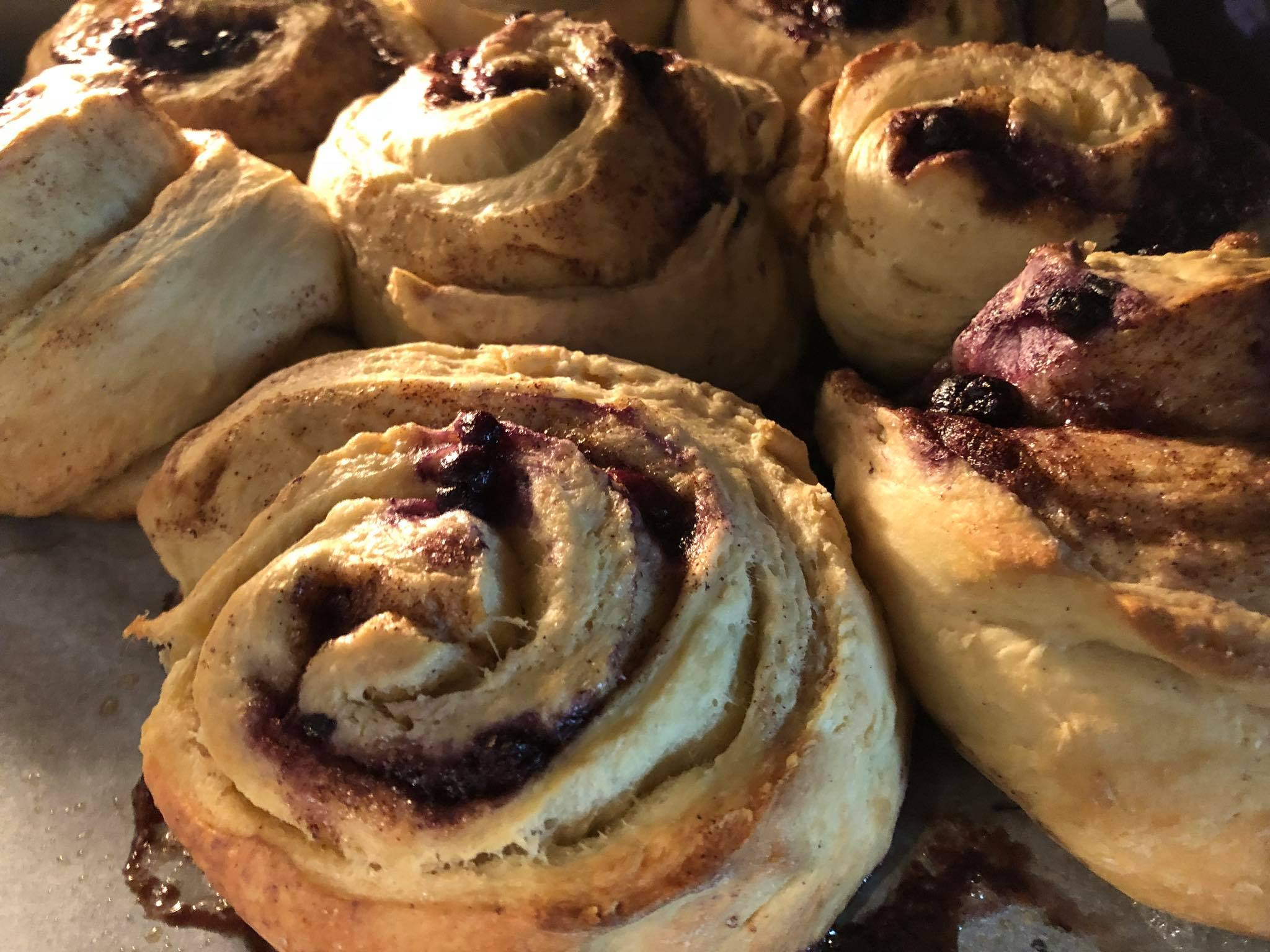 Blueberry cinnamon rolls, a Porch favorite.