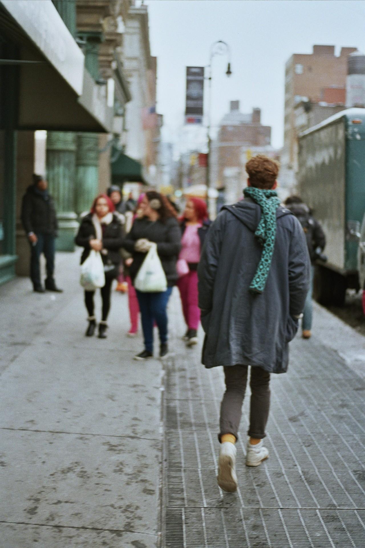 MelkorkaTómasdóttir '17 snapped her friend Milo wandering the city.