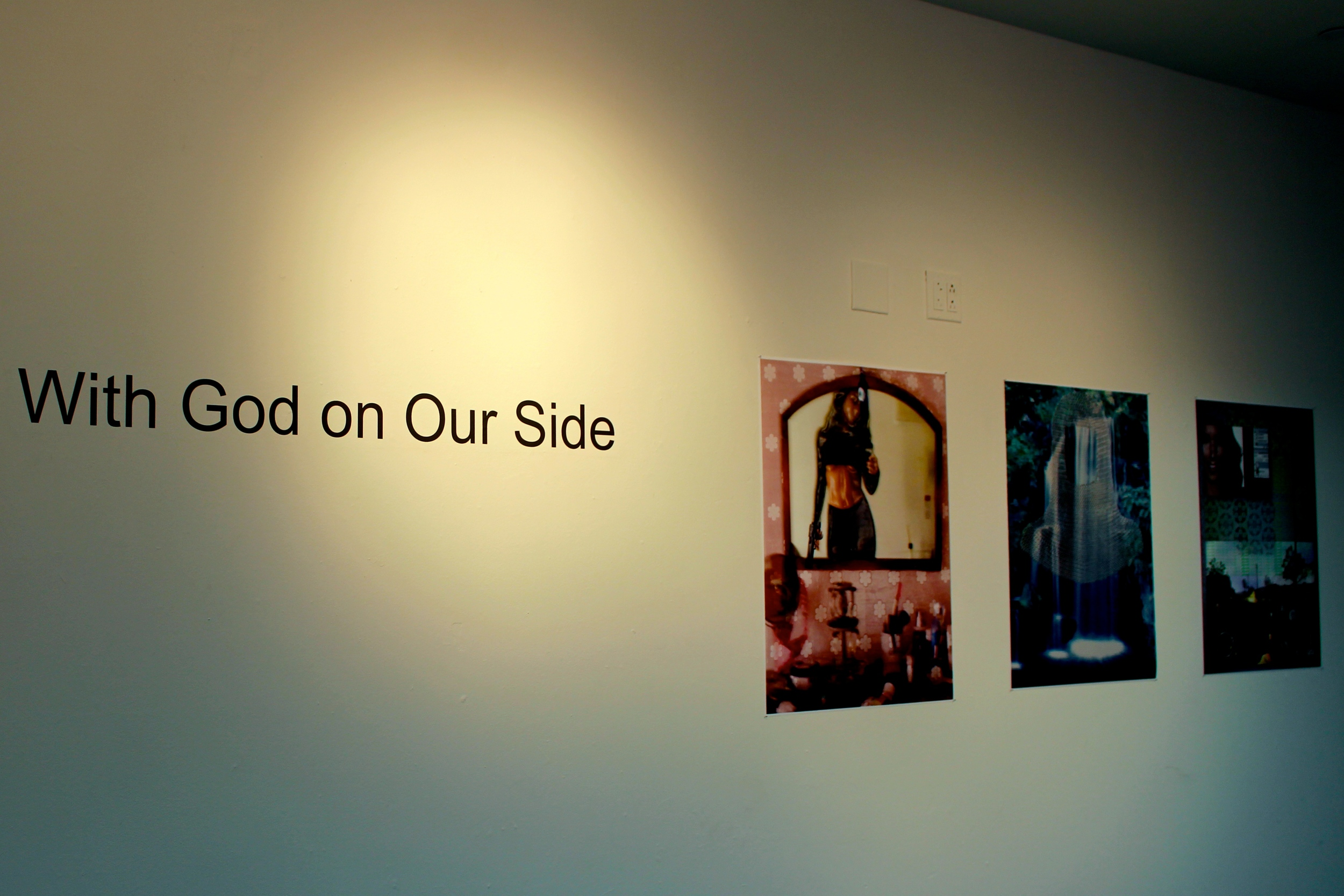 "The intermediate photography class displayed their efforts in the exhibition ""With God on Our Side."" Photos by Ellie Brumbaum '17"