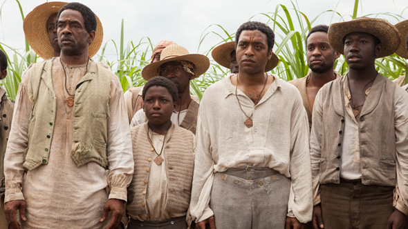 Chiwetel Ejiofor and other actors from Fox Searchlight Picture's  12 Years A Slave  in a still from the film.