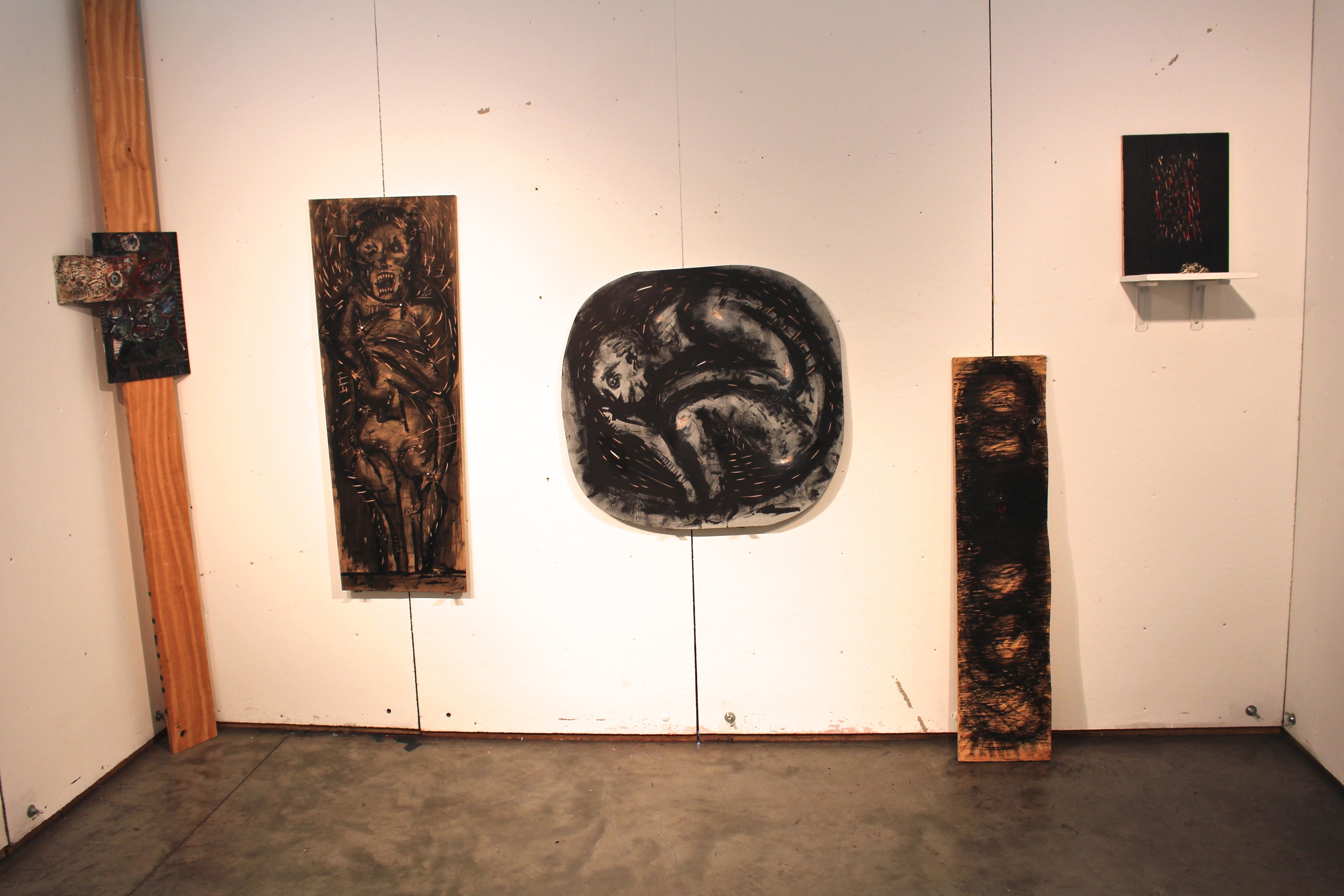 The artist's works exhibited in Heimbold
