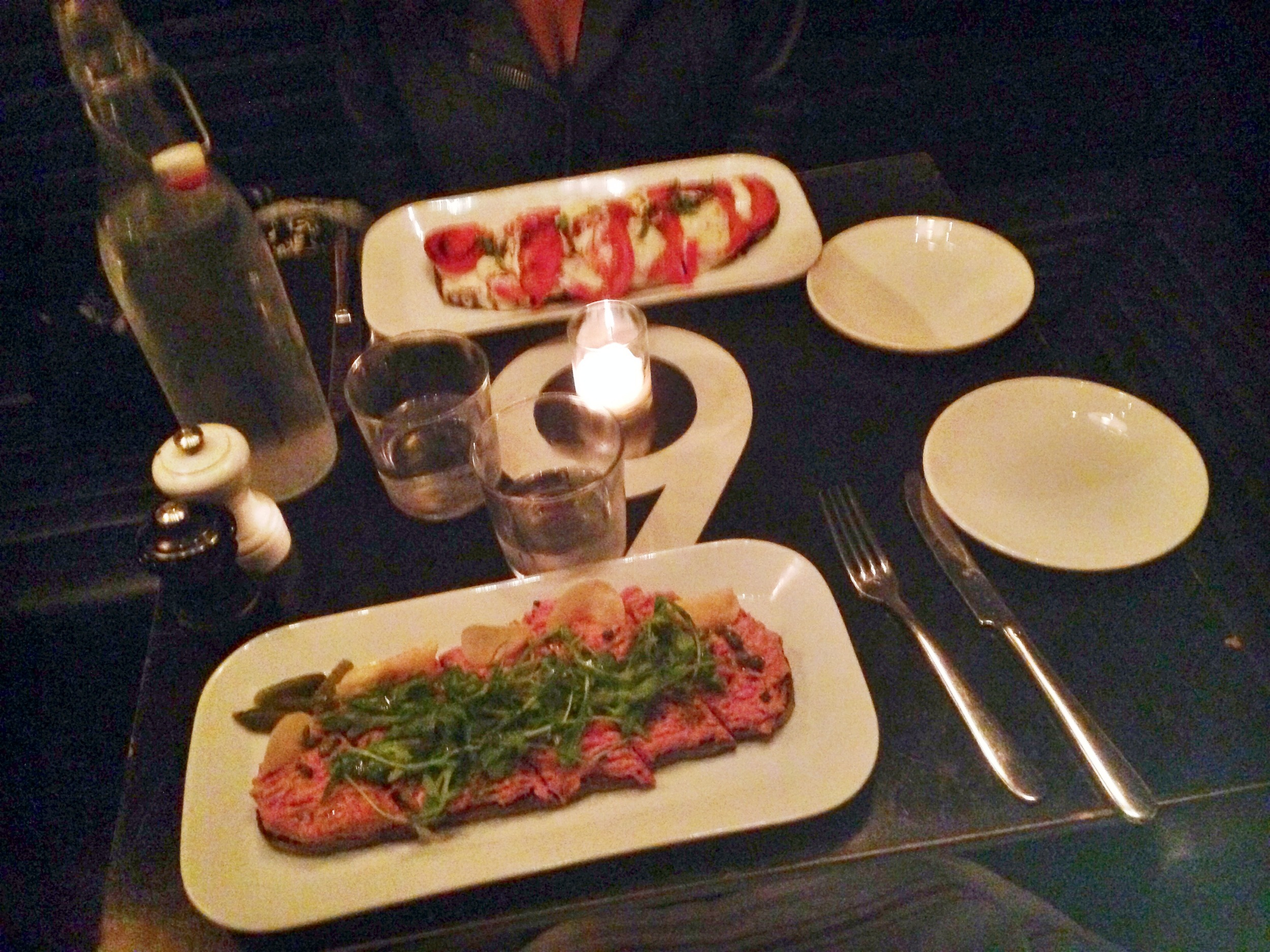 Mozza (far) and Tartare (close) set the table at Tartinery. Photo by Joseph Gregory.