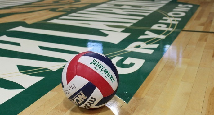 A Gryphon Volleyball on the Gryphon's home court. Photo courtesy Paul Blascovich.