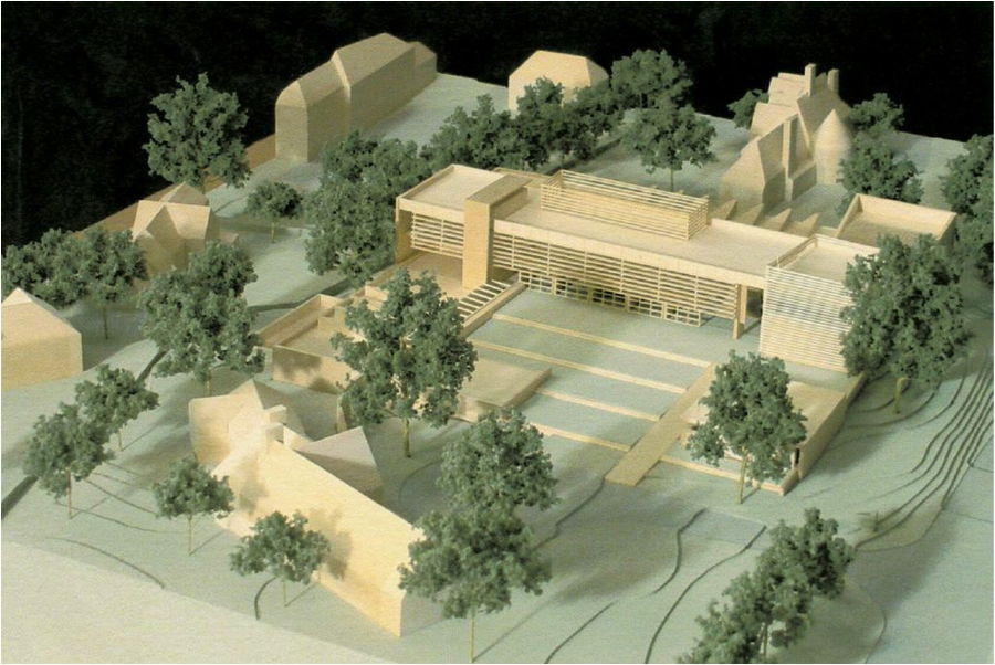 Miniature of Heimbold made during its planning phase.   2014_208 & 2014_210 – Courtesy of the Sarah Lawrence College Archives
