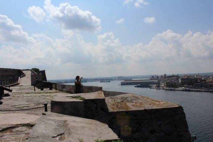 Juna Drougas overlooks a scenic vista in Havana Photo courtesy X. Tan