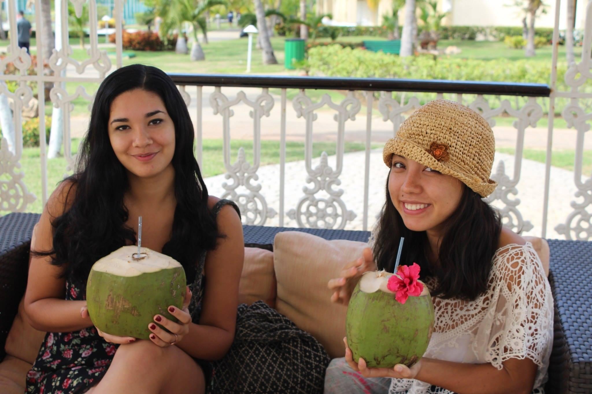 Juna Drougas '16 and Xara Tan '16 relaxing in Cuba Photo courtesy J. Drougas