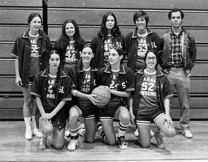 The slc women's basketball team circa 1970's. Photo credit: Sarah Lawrence College Archives