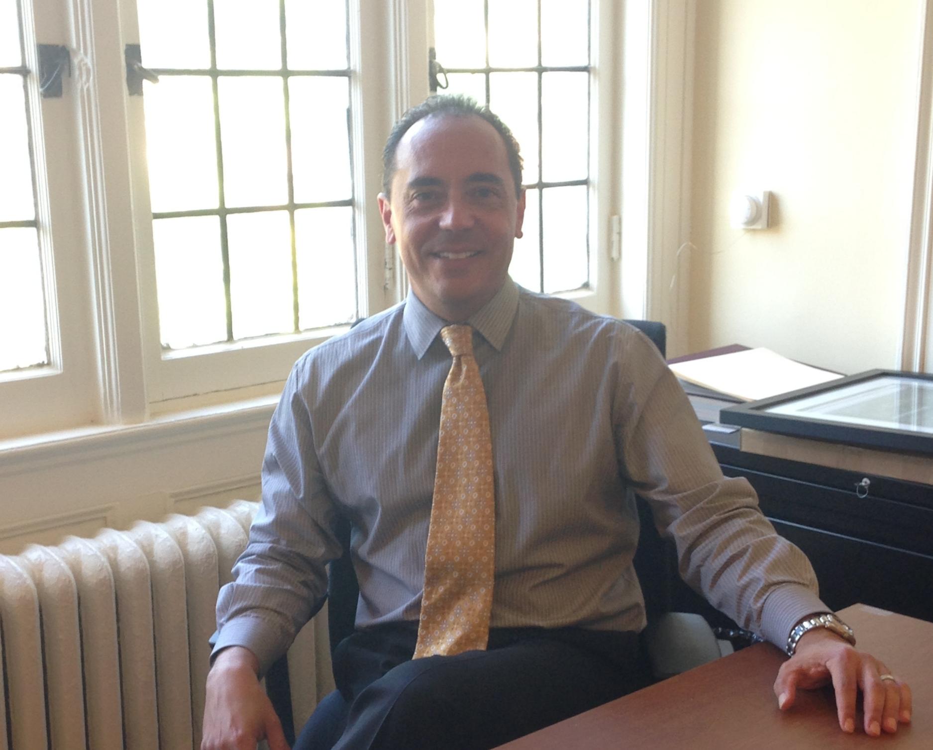 Dean Daniel Trujillo in his office in Westlands. Photo by Janaki Chadha '17