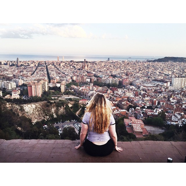 Abby Brecher ('16) looking over the city of barcelona. Photo credit: Abby Brecher