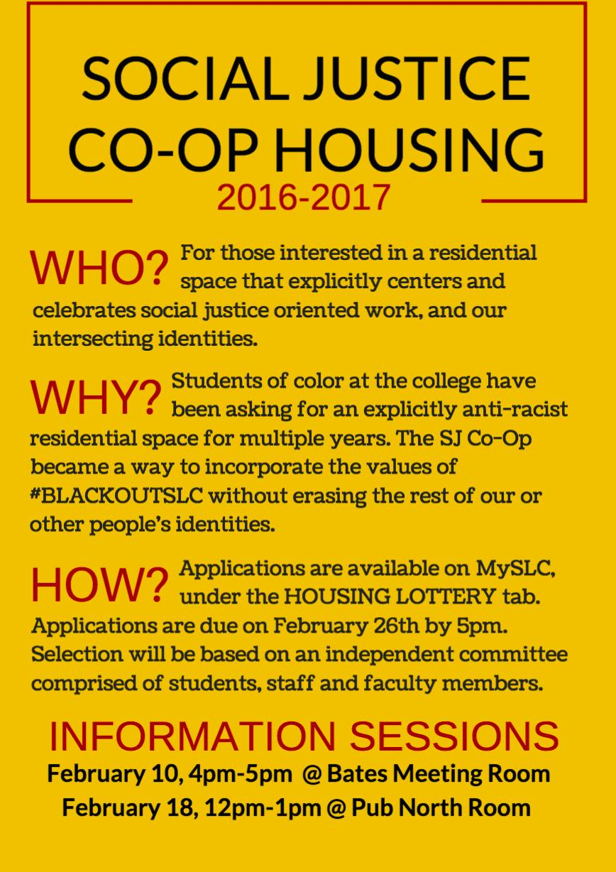 A flier for the new housing program.   Photo courtesy of Carolyn Martinez-Class