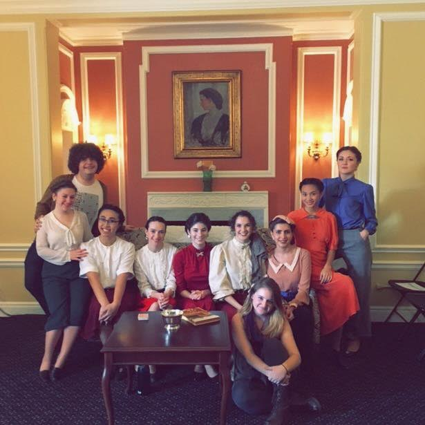 The cast of  Fefu and Her Friends . Photo Credit: Leonie Bell '17 MFA Theatre
