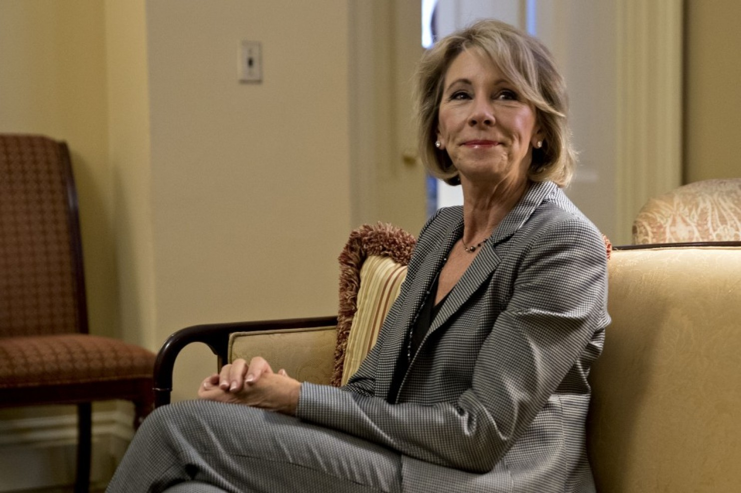 Secretary of EDUcation betsy devos, who was confirmed on february 7. photo courtesy of bloomberg news.