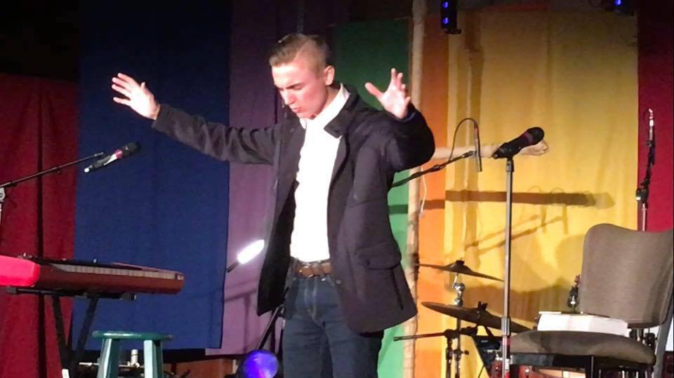 JJ Warren giving a sermon. photo courtesy of jj warren.