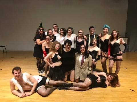 sPRING 2017 ROCKY HORROR PICTURE SHOW CAST. photo courtesy of rachel barkowitz.