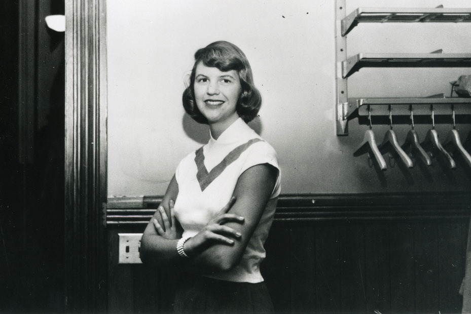Sylvia Plath. PHOTO CREDIT: Smith College Archives.