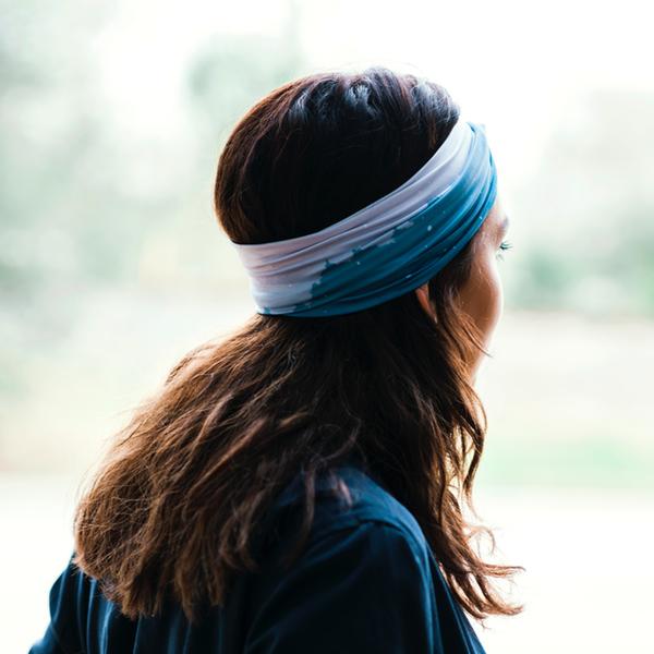 faded treeline headband
