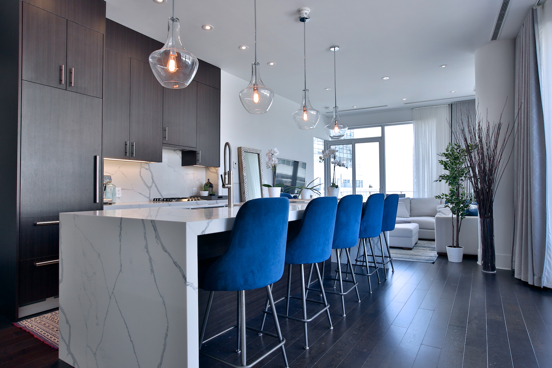 Stunning Refinished Kitchen with Custom Island